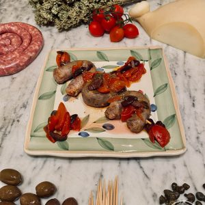 Lo spiedino di salsiccia siciliana di Risto' a Casa - Torino