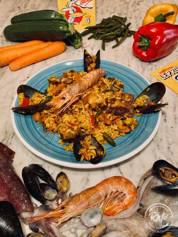 La paella alla valenciana di Risto' a Casa - Torino